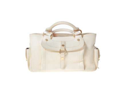 celine stingray box bag s9a2  C茅line Tote Boogie cream/yellow leather handbag