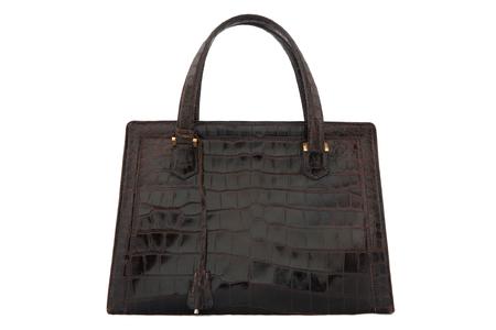 "Hermes ""Pullman"" brown crocodile handbag"