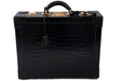 Hermes rare crocodile attaché-case