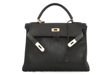 Hermes Kelly 32 black Togo leather