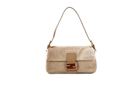 Fendi poney leather shoulder bag