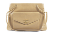 Chanel vintage beige tote bag