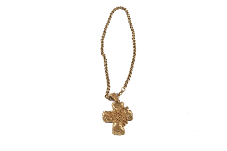 Christian Lacroix vintage chain with a cross pendant