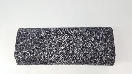 Stingray clutch bag dark blue