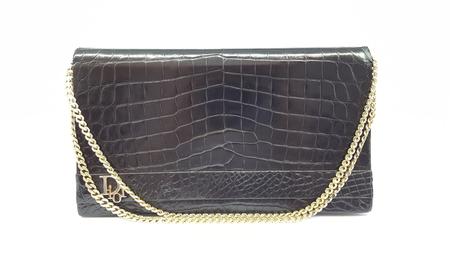 Christian Dior vintage crocodile clutch bag