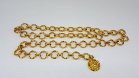 Chanel gilded belt
