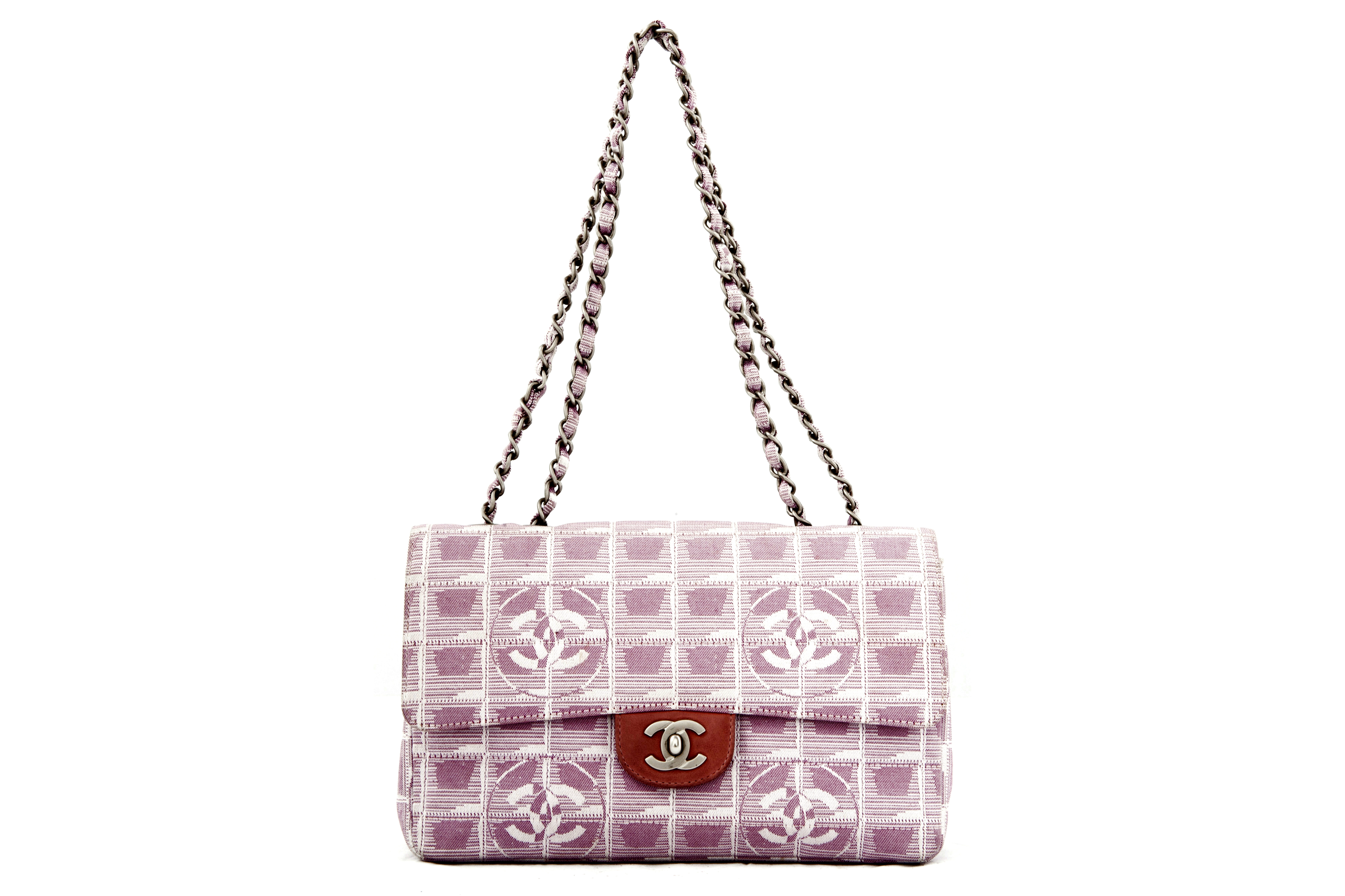 82f19aefa69a Chanel ''Timeless'' pink and white fabric - Vintage Shop in Mykonos