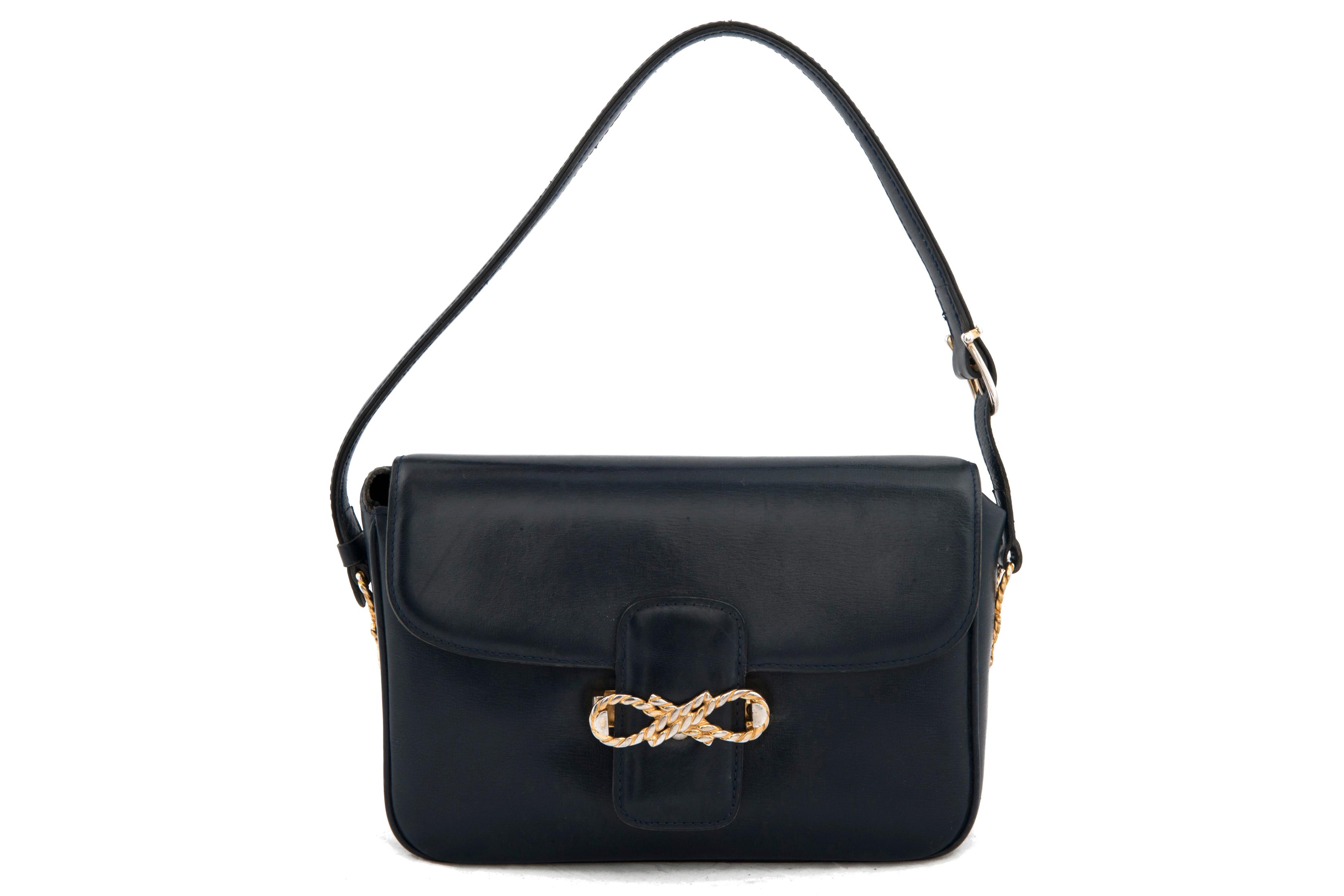 72b03b20fe84 Celine vintage blue leather handbag - Vintage Shop in Mykonos