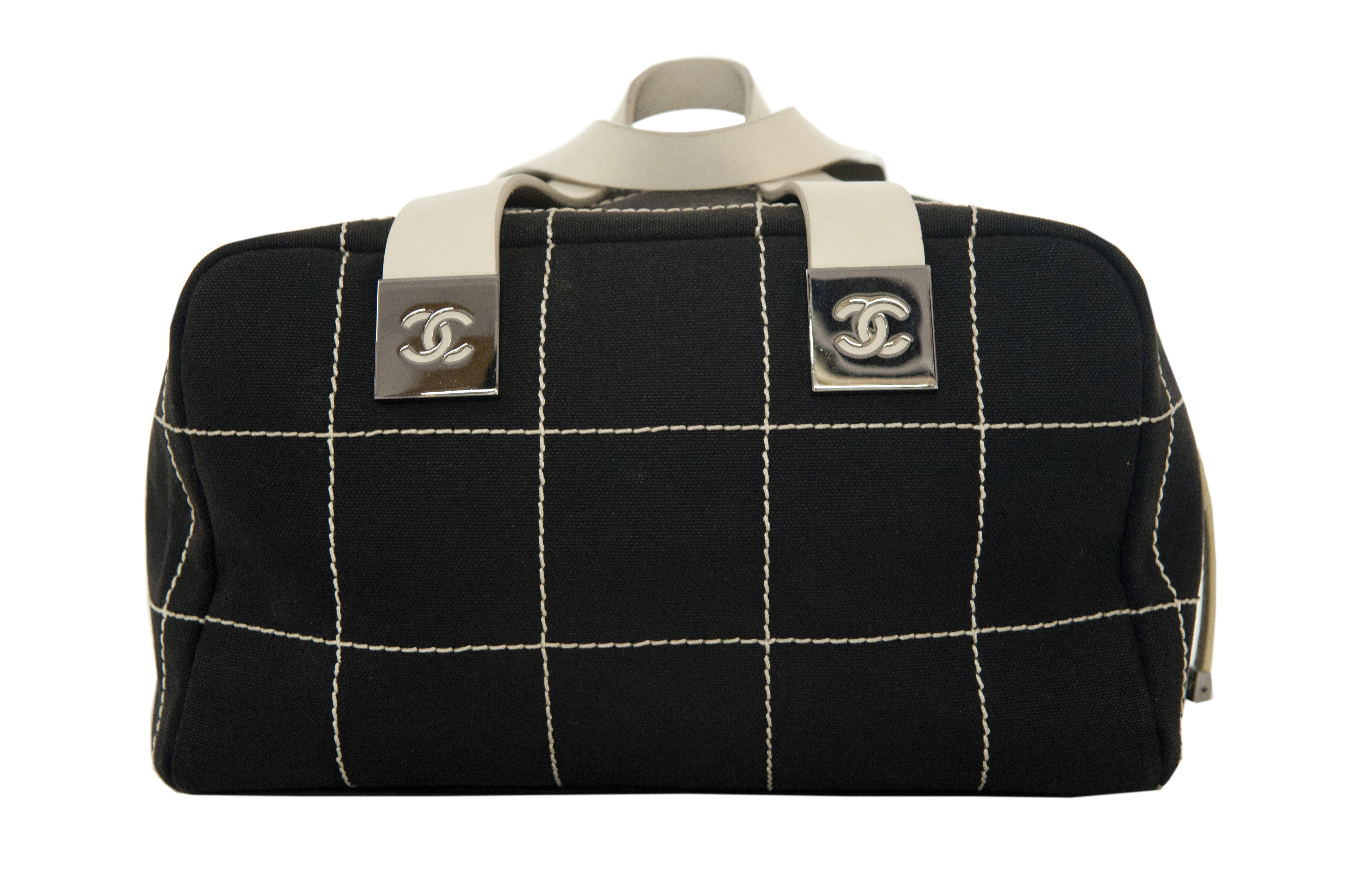 950ac329032d Chanel bag ''5'' black and white fabric - Vintage Shop in Mykonos