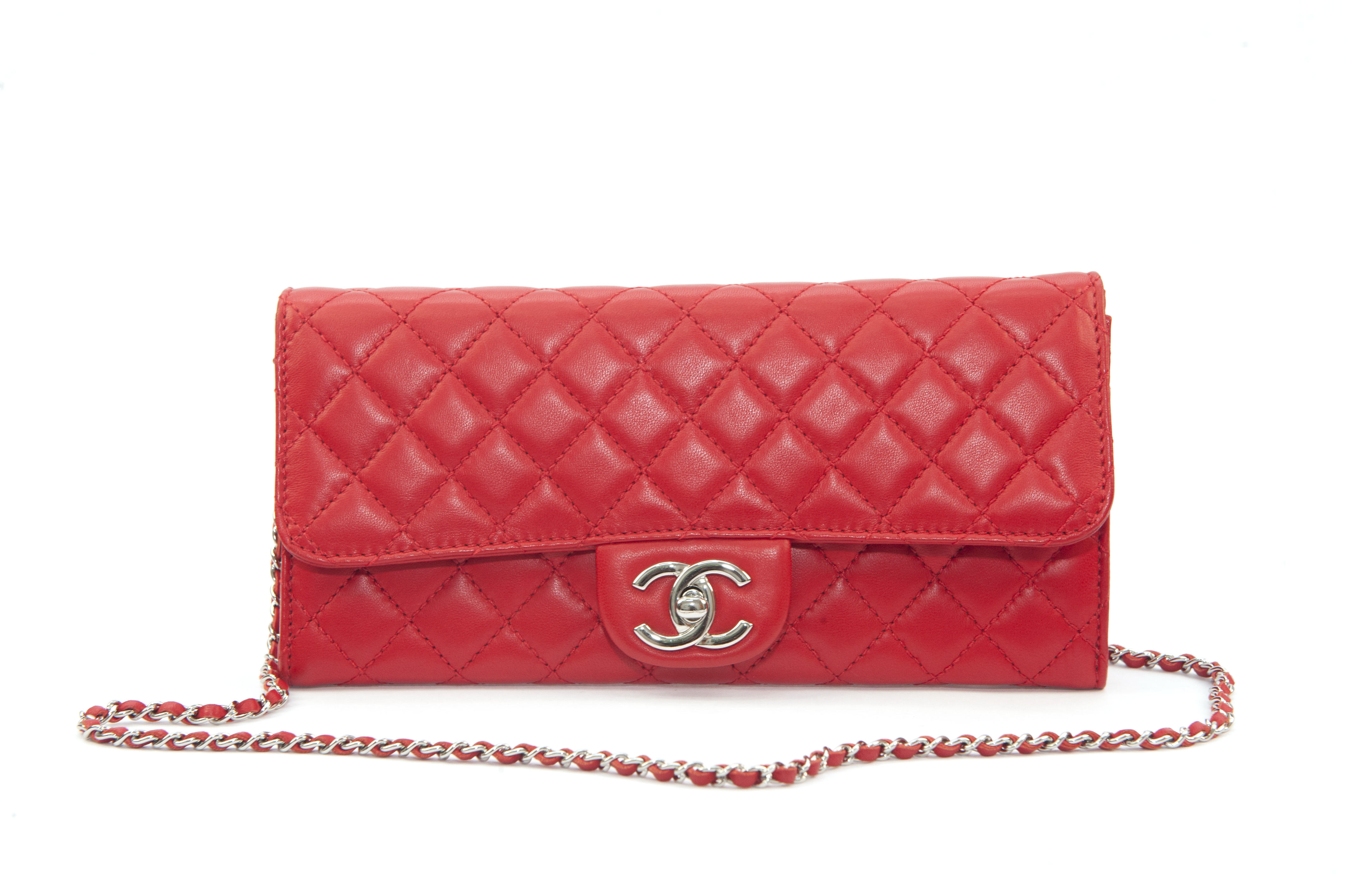 9236897e27e2 Chanel Timeless Bag Authentic Red Lambskin Leather