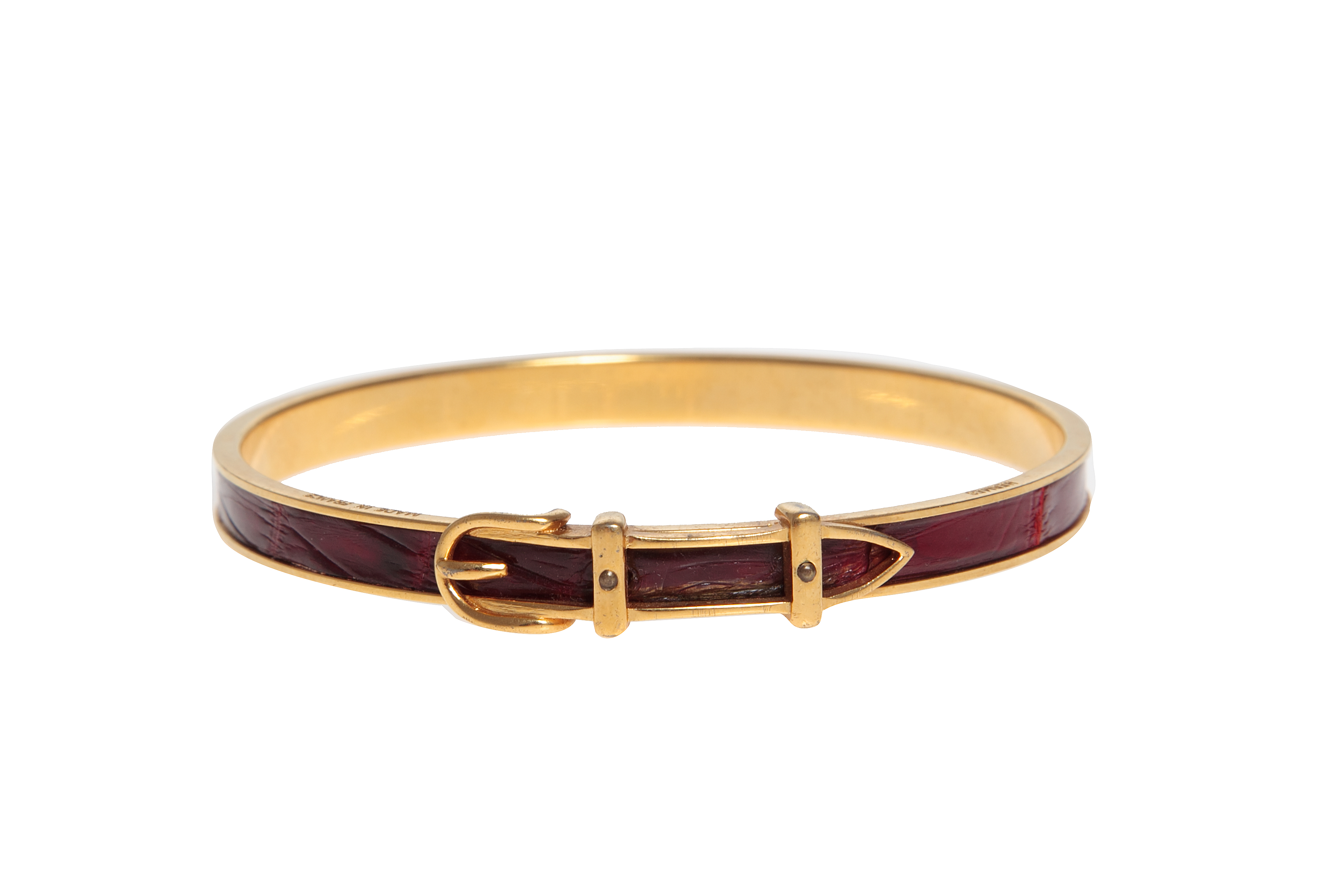 Hermes Crocodile Belt Bracelet Vintage Shop In Mykonos