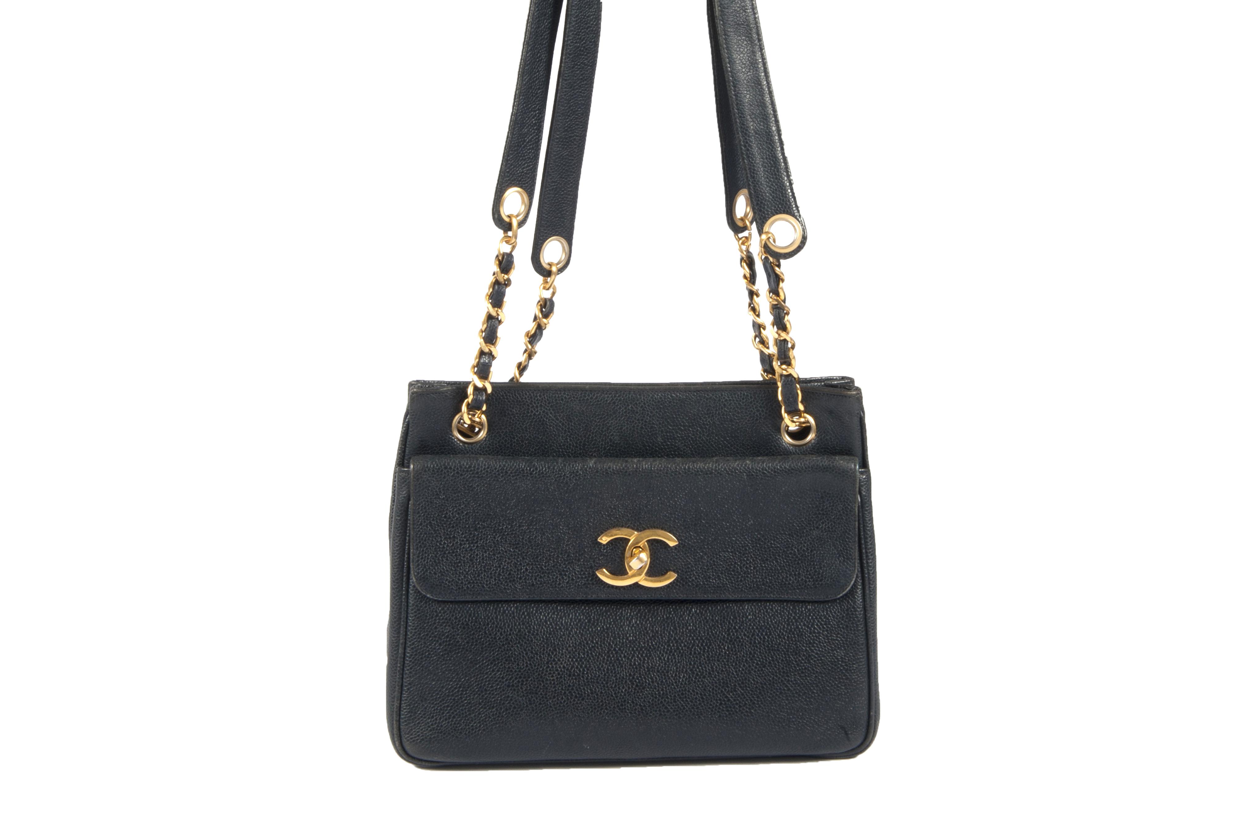 52e752f9a3ad Chanel marine blue vintage handbag - Vintage Shop in Mykonos