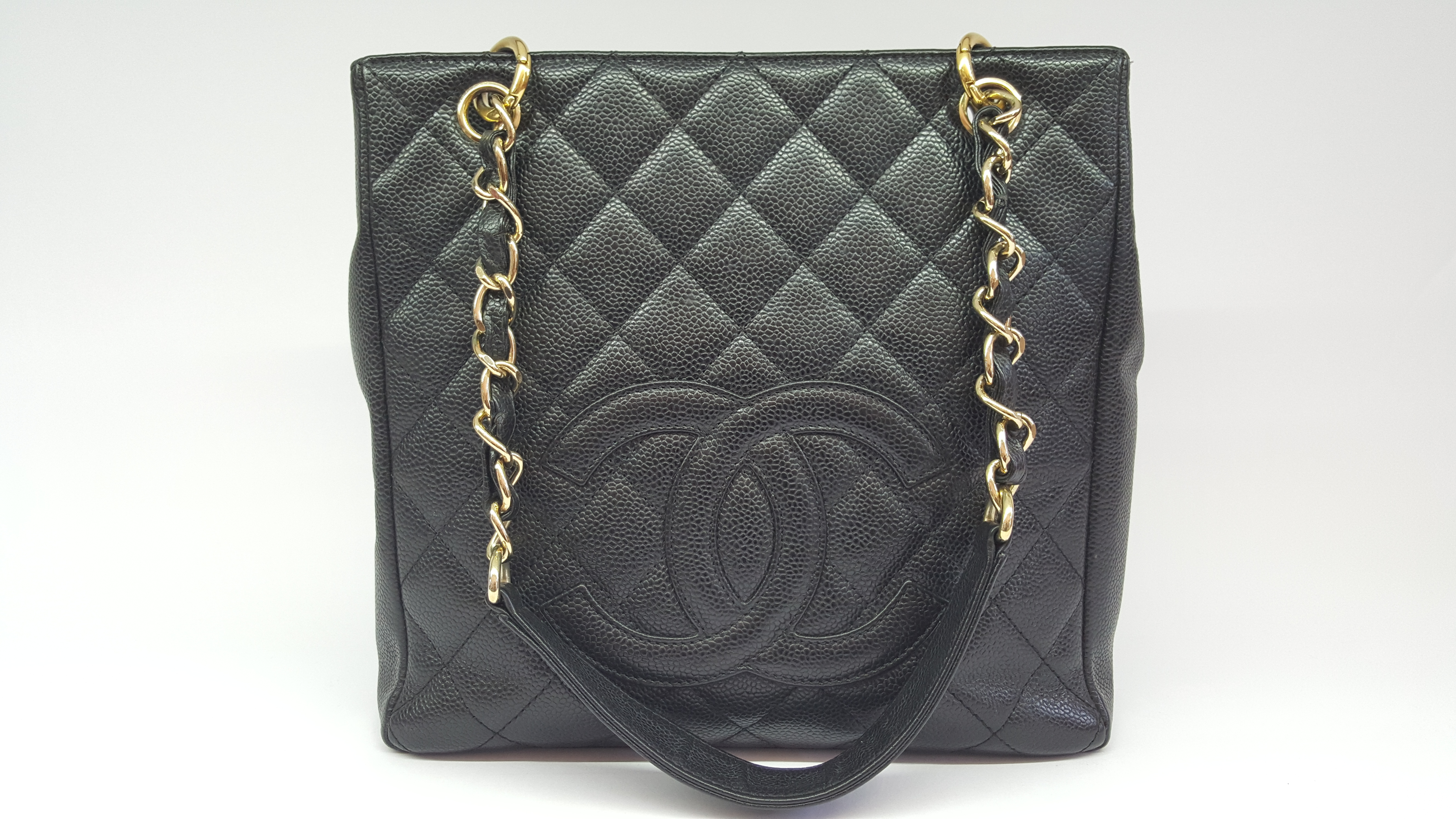 45f2024ce1d4ce Chanel PST black caviar leather - Vintage Shop in Mykonos