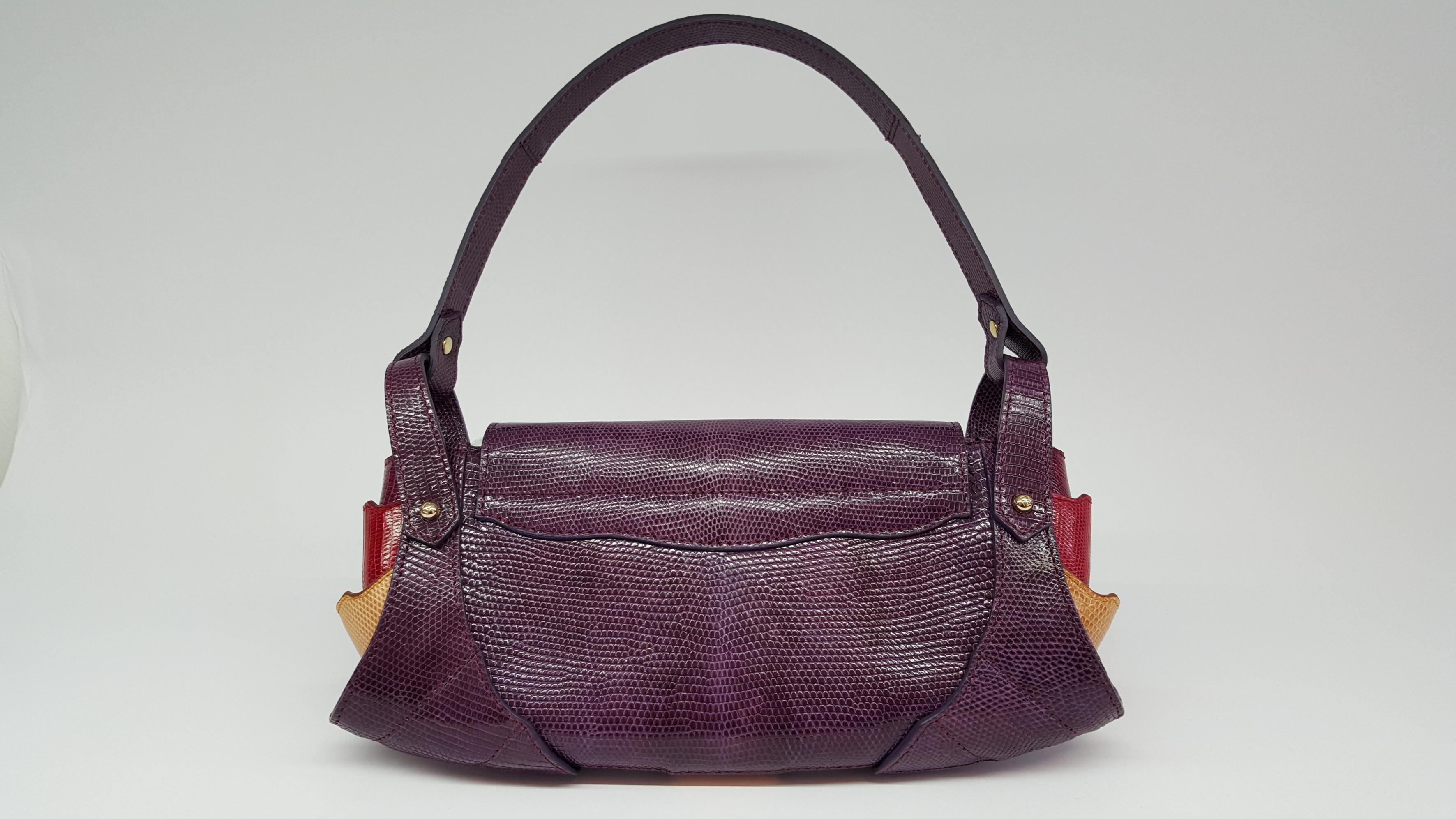 Fendi Lizard Skin Handbag Vintage Shop In Mykonos