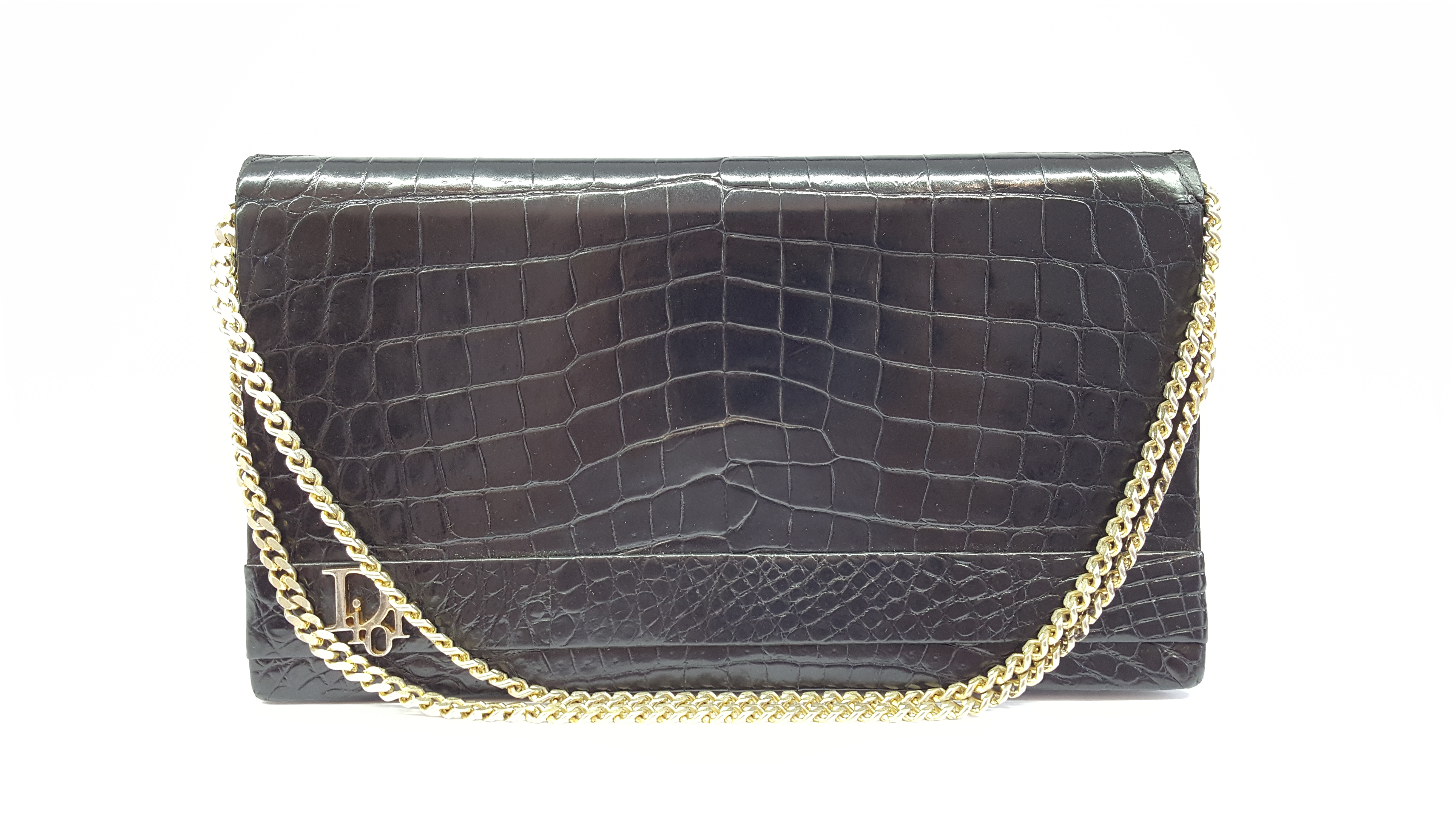 Christian Dior vintage crocodile clutch bag - Vintage Shop in Mykonos 958162ee682f4
