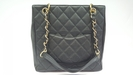 Chanel PST black caviar leather