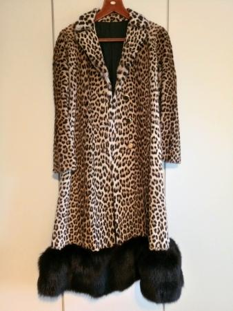 sistovari leopard fur coat